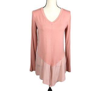 LOGO Peach Long Sleeve Lagenlook Top A274075